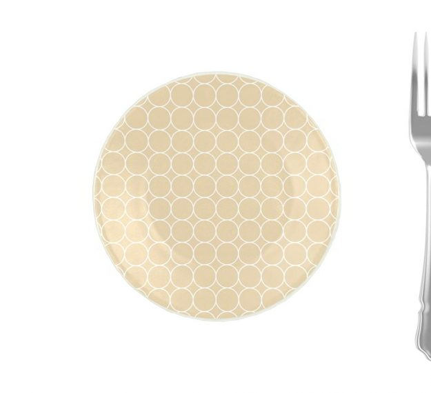 Handcrafted Pretty Side Plates in Beige Designed by Anna Vasily - Measure View