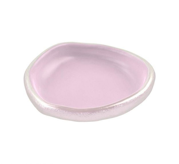 Freeform Canape Pink Dish Designed by Anna Vasily - 3/4 View