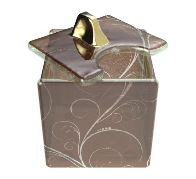 Brown sugar caddy with lid