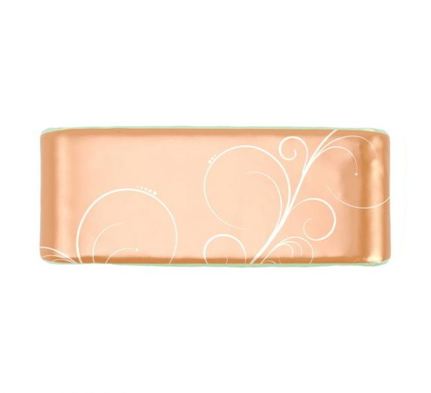Rectangular gold napkin holder