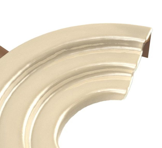 AnnaVasily - Xeni is a sushi presentation platter in a cream colour and shaped like an amphitheatre.-Detail View