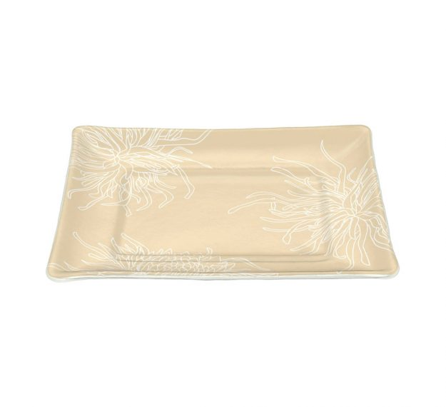 Beige Coloured Modern Charger Plates Designed by Anna Vasily - 3/4 View