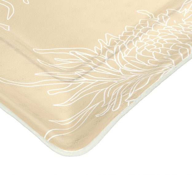 Beige Coloured Modern Charger Plates Designed by Anna Vasily - Detail View