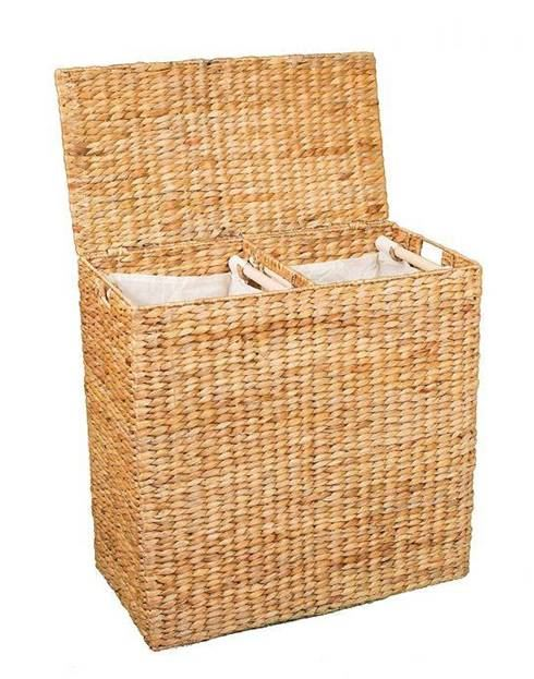 2-Compartment Laundry Basket