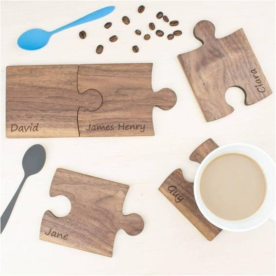 Wooden Puzzle coasters for coffee