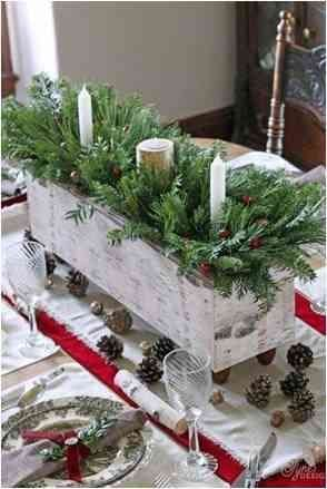 Wooden Crate with Candles and Branches