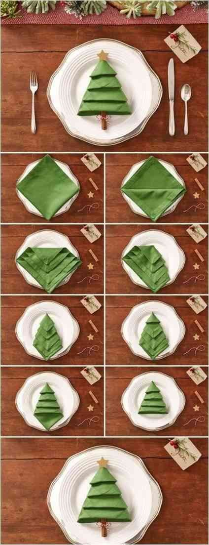 DIY Christmas Napkins