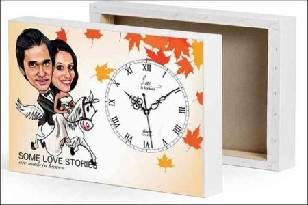 Clock with a Caricature