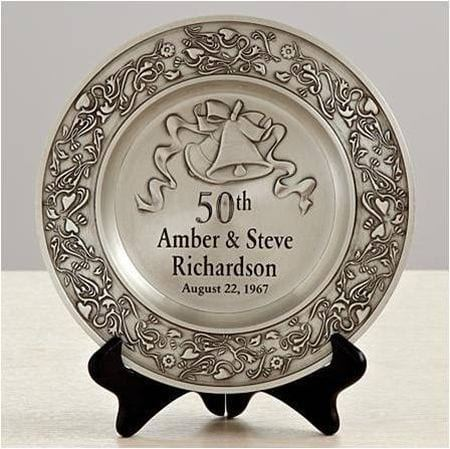 Engraved Anniversary Plate