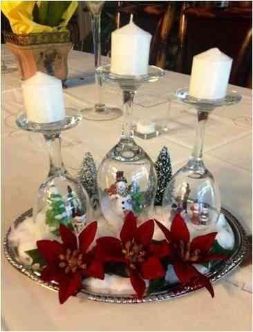 Wineglass Snow Dome and Candleholder