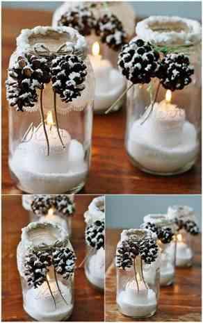 DIY snowy jar