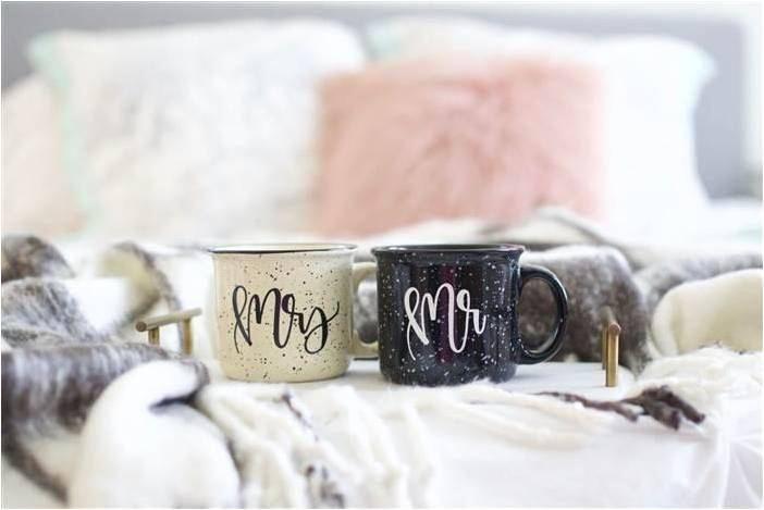 Matching customized camping mugs