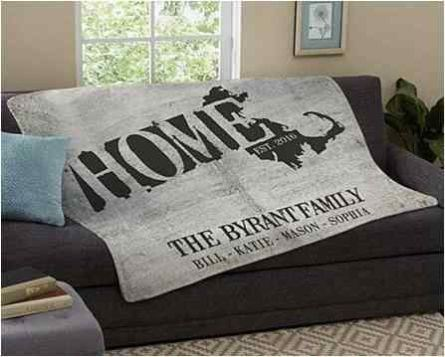 Personalized Plush Blanket