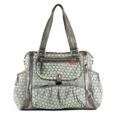 Grey coloured baby bag
