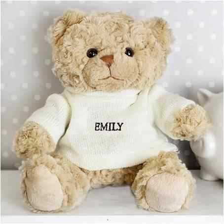 Personalized plush bear toy