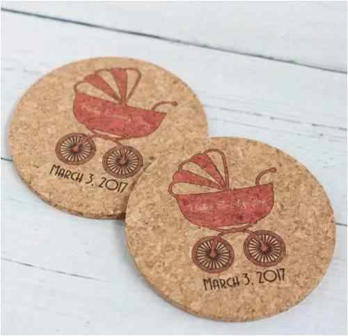 Personalized Baby Shower Coasters