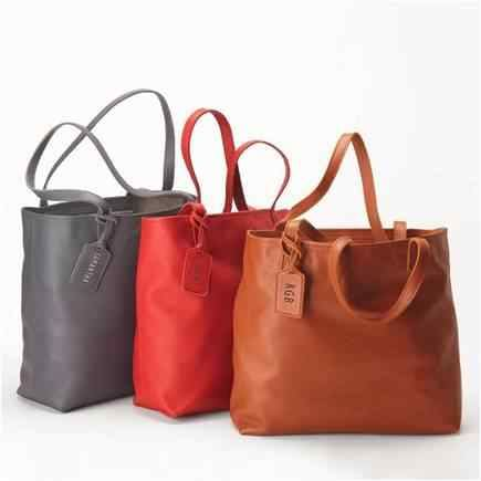 luxury leather tote