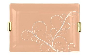 Brown elegant charger plate