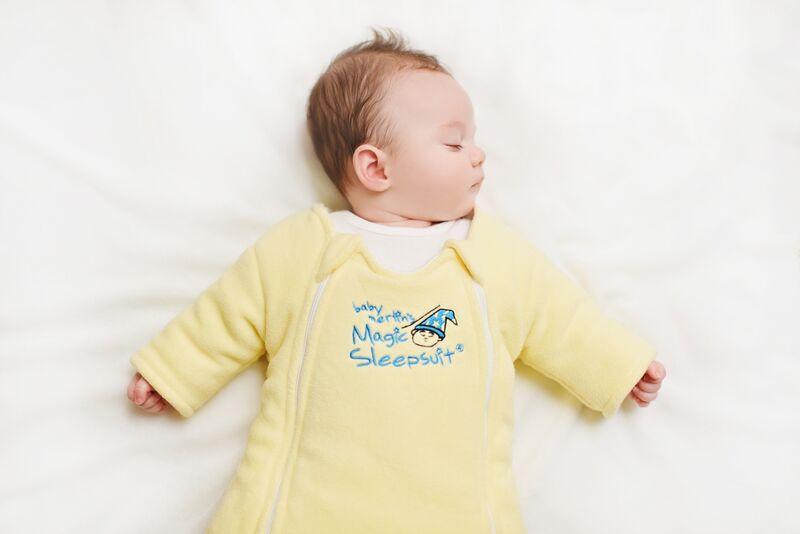 Yellow Baby Microfleece Sleeping_preview