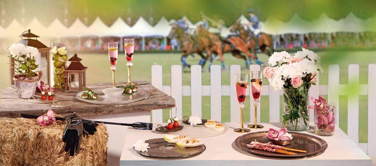 Luxury table setting with the theme Portsea Polo