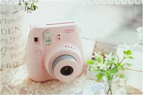 Pink instant camera