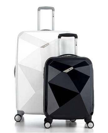 Luxury black and white suitcases