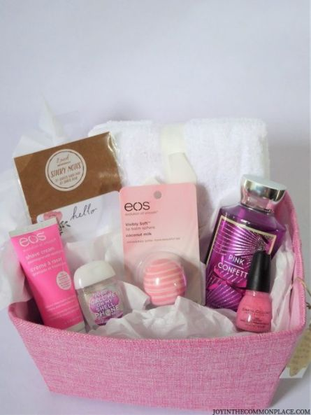 pink bridal showe basket