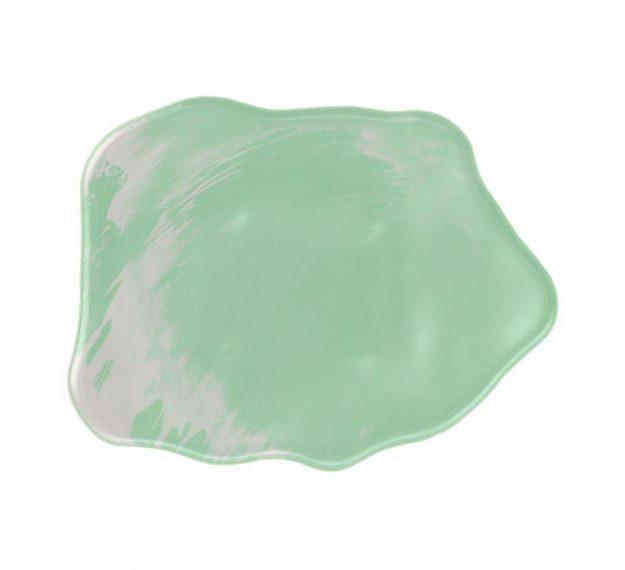 Organic Green Tapas Dinnerware Plates Designed by Anna Vasily - Top View