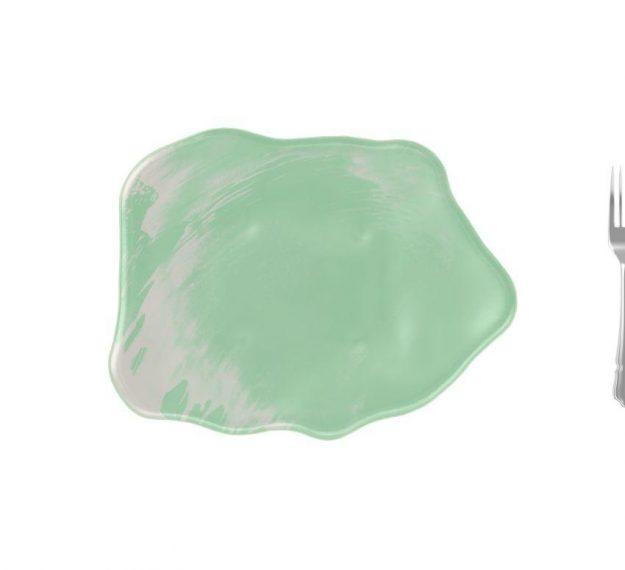 Organic Green Tapas Dinnerware Plates Designed by Anna Vasily - Measure View