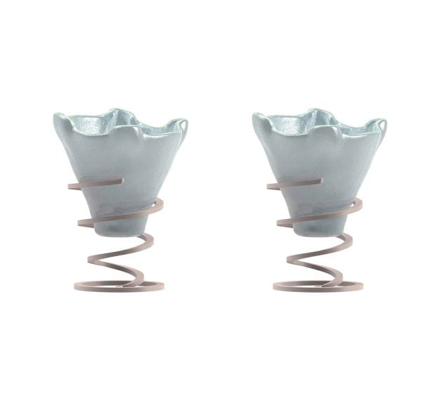 Set of 2 Light Blue Ice Cream Bowls Designed by Anna Vasily - Set View