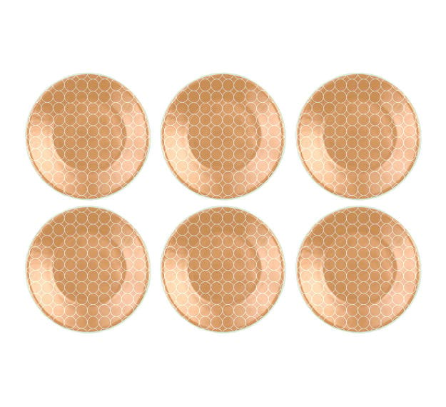 Gold Side Plates Set of 6 Glass Side Plates by Anna Vasily - Set View