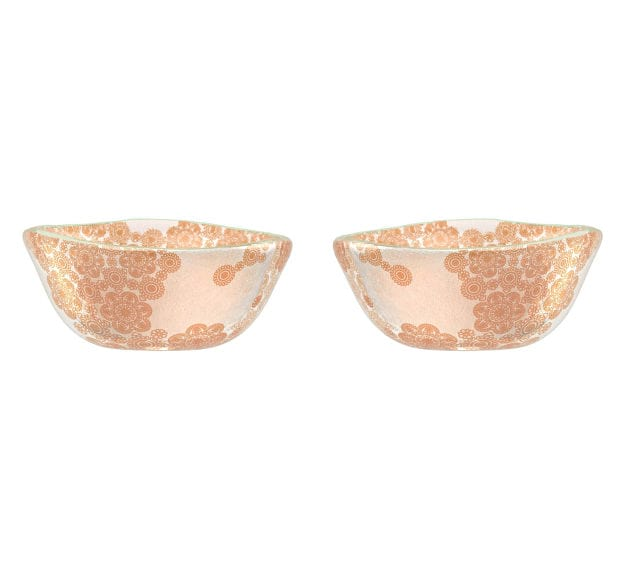 Small Glass Bowls With Floral Pattern Designed by Anna Vasily - Set View