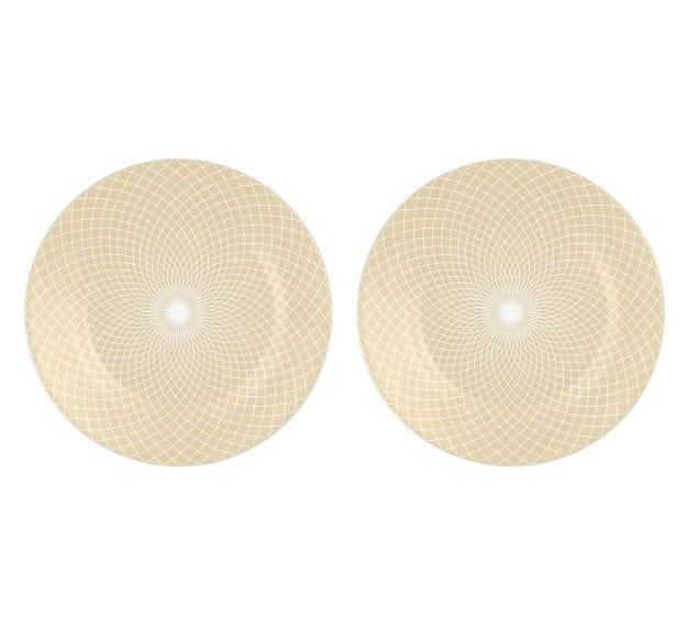Modern Decorative Plates in Metallic Beige Designed by Anna Vasily - Set View