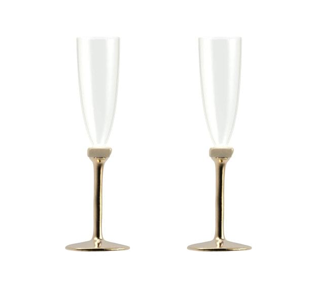 Modern Champagne Glasses, Set of 2, Stylishly Made by Anna Vasily - Set View