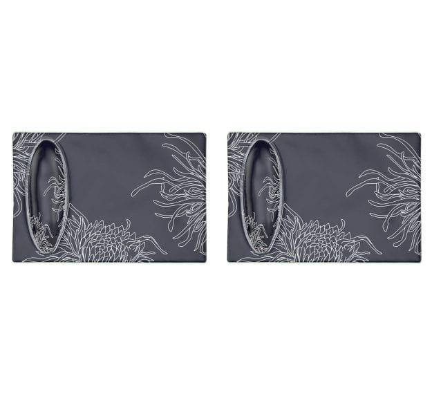 Blue Rectangular Sushi Plate Designed by Anna Vasily - Set View