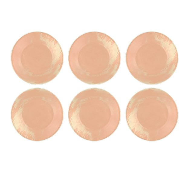 Rose Gold Side Plates - Maia Handmade Side Plates by Anna Vasily - Set View
