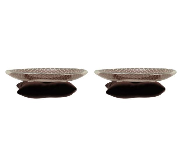 A Unique Patterned Petit Fours Plate by Anna Vasily - Set View