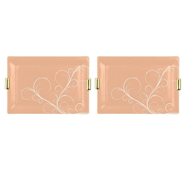 Captivating Cameo Rose Gold Charger Plate Designed by Anna Vasily - Set View