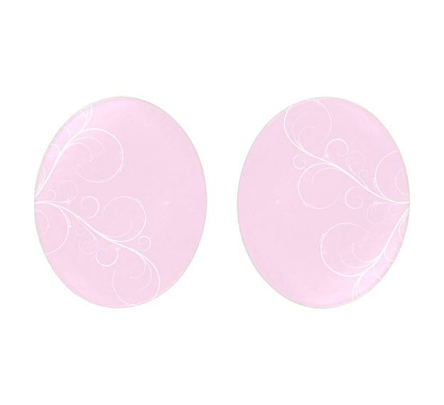 Floral Pink Dessert Plates With an Organic Wavy Form by Anna Vasily - Set View