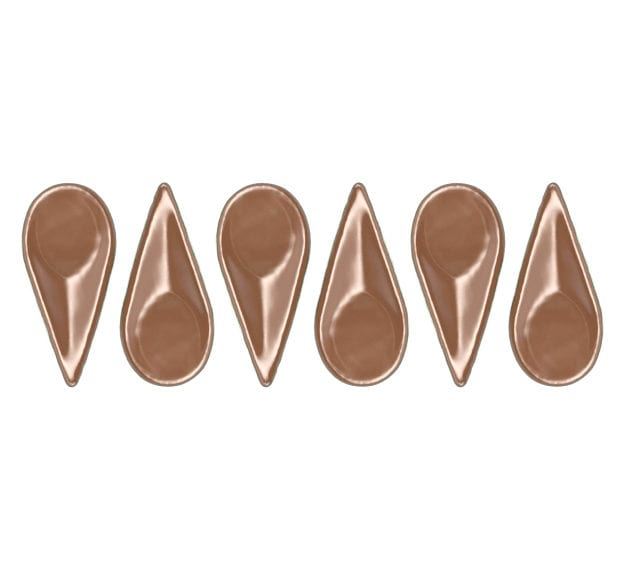 Brown Canape Spoon Set of 6 Designed by Anna Vasily - Set View