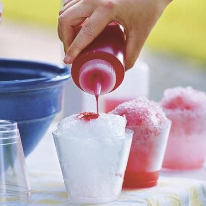 wedding ideas - raspberry snow cones