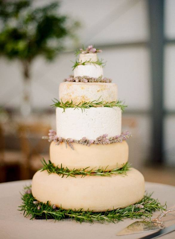 wedding ideas - 7 tiered wedding cake made out of cheese