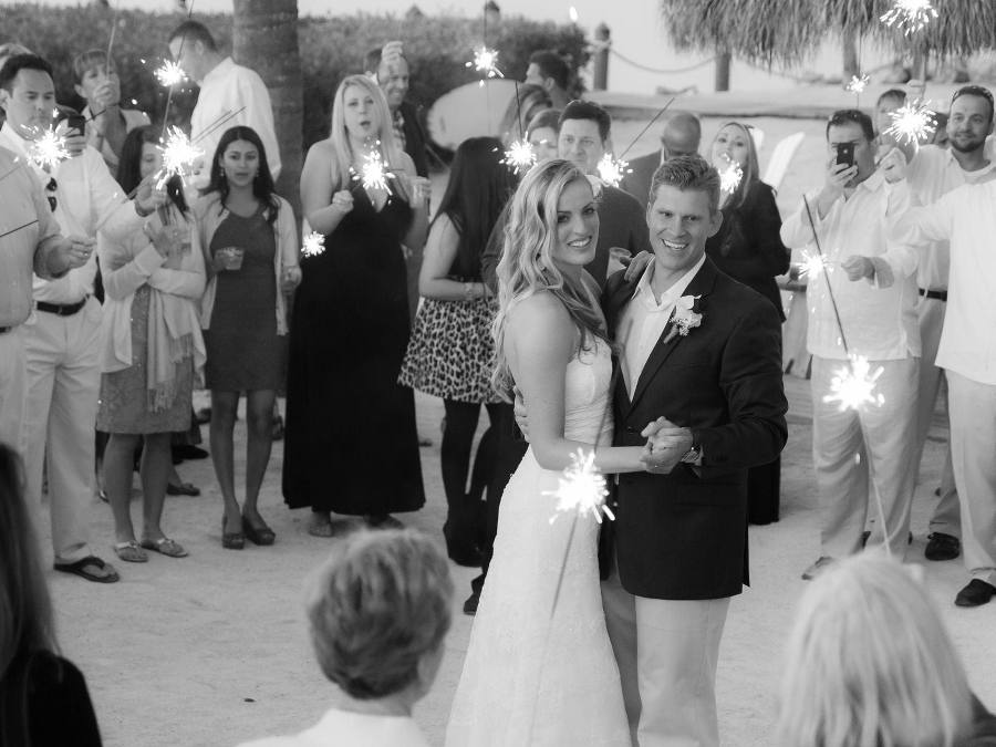 Wedding ideas - black and white photography, first dance, sparklers