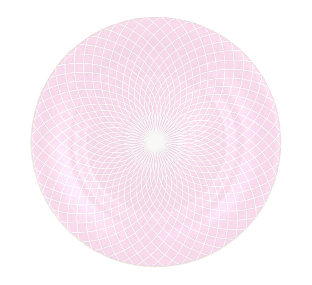 Patterned Pink Charger Plates Designed by Anna Vasily - Top View