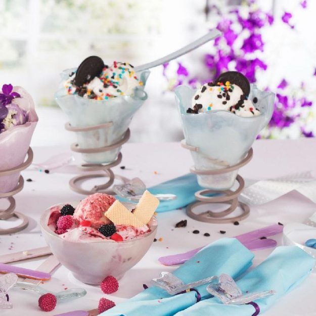 Light Blue Ice Cream Bowls Aspe by Anna Vasily