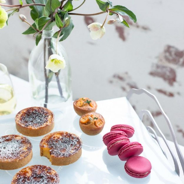 Elevated Petit Fours Plate Blos by Anna Vasily