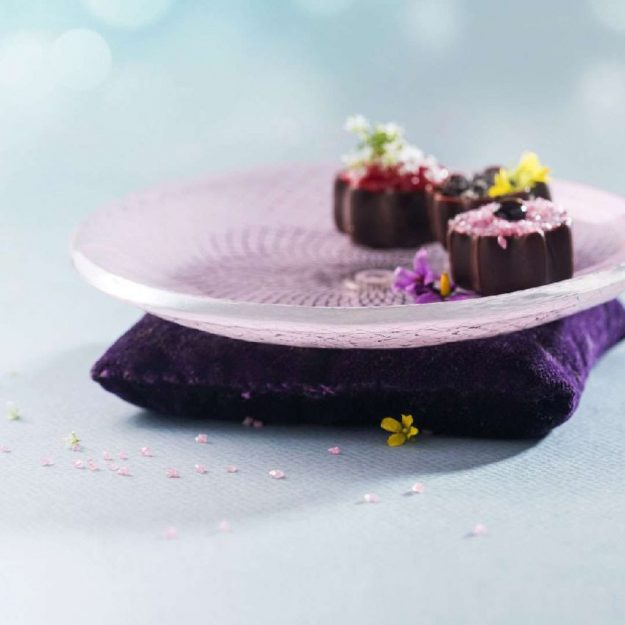 Luxurious Patterned Petit Fours Plate Darle by anna Vasily