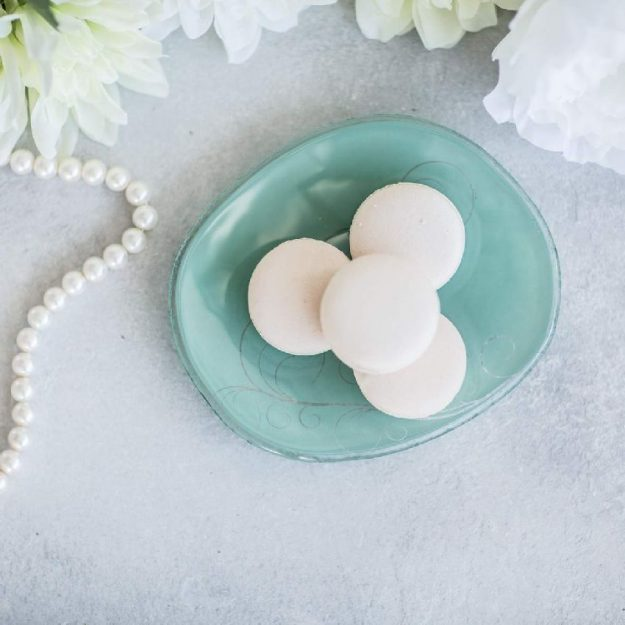 Mint Green Organic Shaped Small Side Plates Deia by Anna Vasily