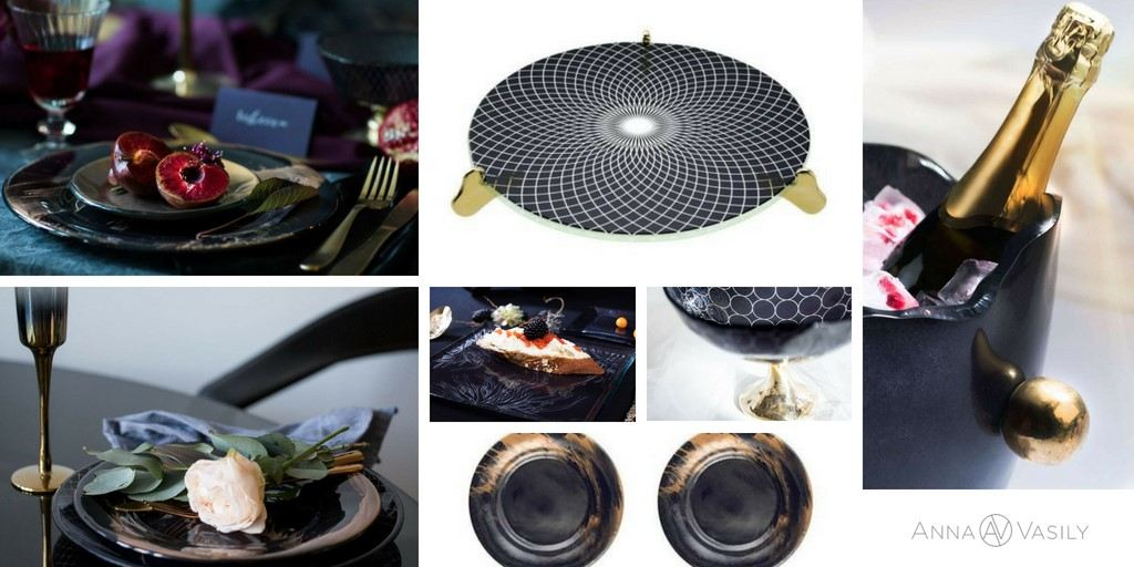 Elegant Navy & Gold Tableware for a sophisticated tablescape