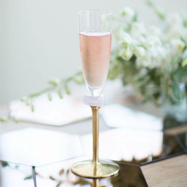 Gold Champagne Glasses Kassi Designed by Anna Vasily